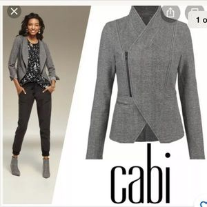 Cabi Rebel Jacket Flint Gray Zip Front